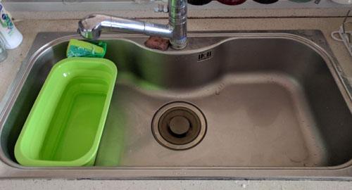 アイメディアたためるシリコン食器洗い桶スリム
